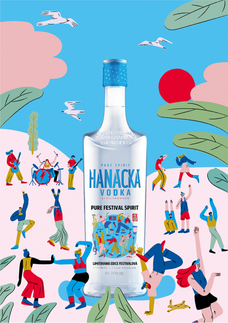 Illustrations  for summer limited edition of Hanácka Vodka